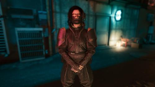 赛博朋克2077黑色皮革风衣MOD v1.0