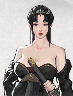 鬼谷八荒性感黑色露肩大胸服饰MOD v1.0