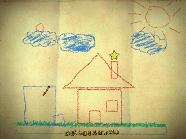 还可以固定住用蜡笔画的图形使之成为成为背景, 方向标记到一个图钉