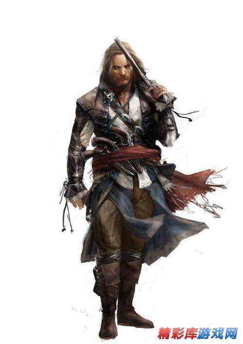 刺客信条4 黑旗 游戏地图发布及游戏原画鉴赏